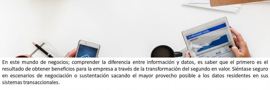 Información como fuente diferencial para su mercado
